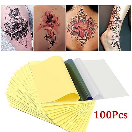 Skymore 100 Hojas Papel Para Transferencia Del Tatuaje De Papel Para