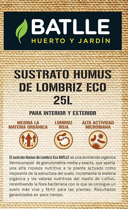 Sustratos Ecológicos Sustrato Humus Lombriz 25l. Batlle + Sustrato ...