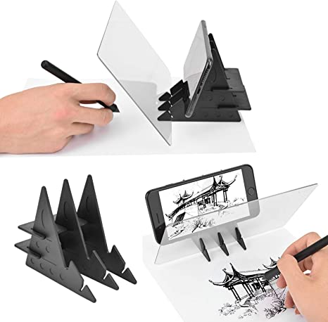 Zopsc Portable Tracing Board Stencil Board Light Box Copy Mirror Drawing Reflection Board Painting Art Easy Drawing Sketching Tool Suitable For Kids Junior Painters Artists Animation Industry Etc
