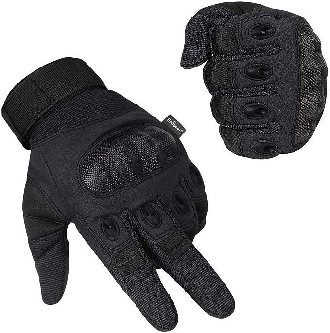 Unigear Motorrad Handschuhe Herren Touchscreen Motorradhandschuhe Mit Hard Knuckle Leichte Fahrradhandschuhe Auch Geeignet Für Paintball Airsoft Militär Taktische Handschuhe Bekleidung