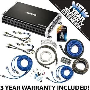 Kicker 43DXA2504 Car Audio 4 Channel Amp DXA250.4 & 8 GA Amplifier Accessory Kit - 3 Year Warranty!