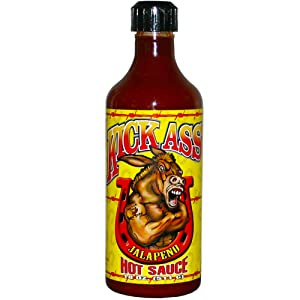 Kick Ass Jalapeno Hot Sauce – 18 oz. - Gourmet Gift for the Hot Sauce Fan – Perfect for Chicken Wings - Try if you dare