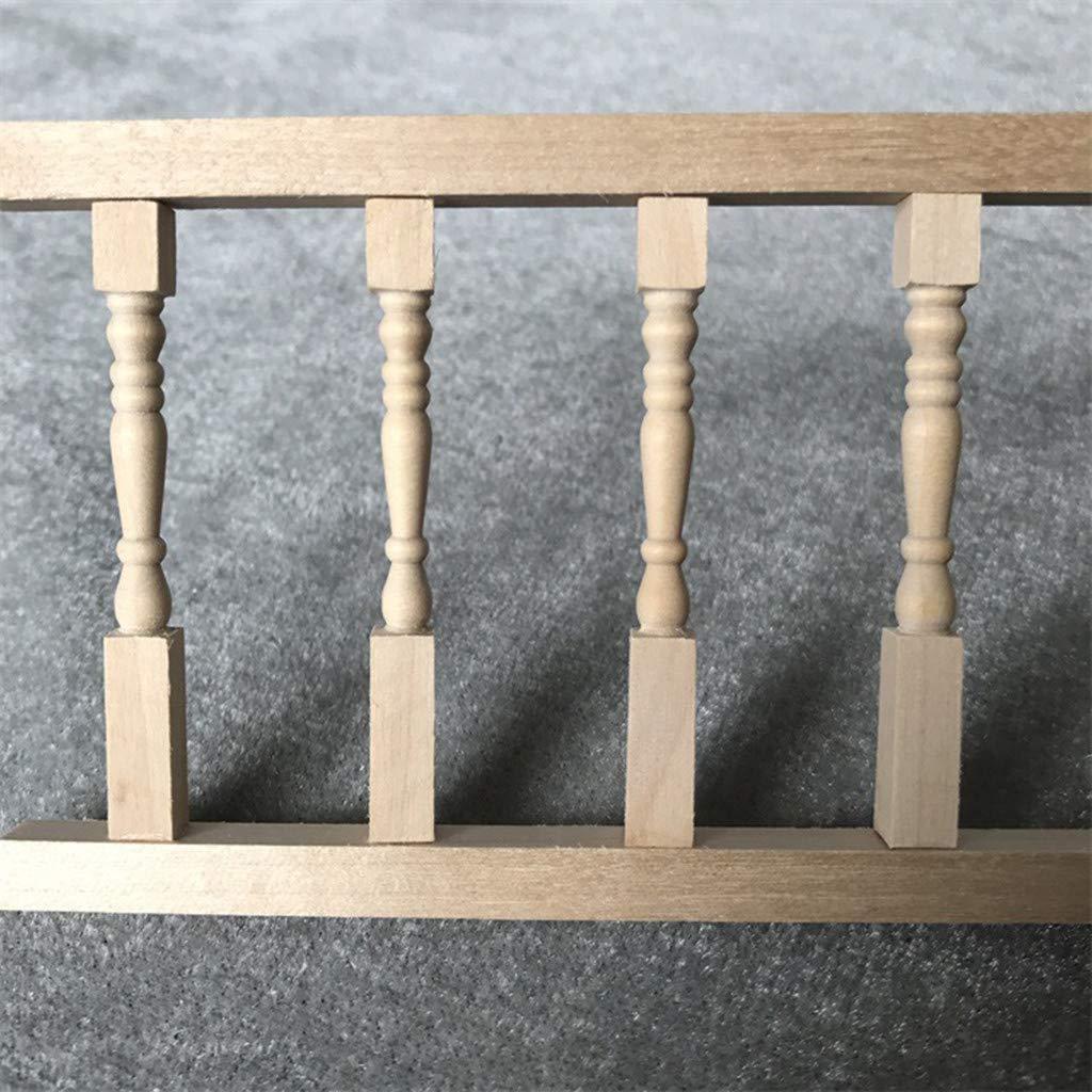 Puppenhaus 1:12 Puppenstuben Zubeh/ör Mini Modell der Life Play Szene//Dollhouse Accessoires Fence Handrail 30.5x7.5x0.7cm Zaun Handlauf Gel/änder Z/äune
