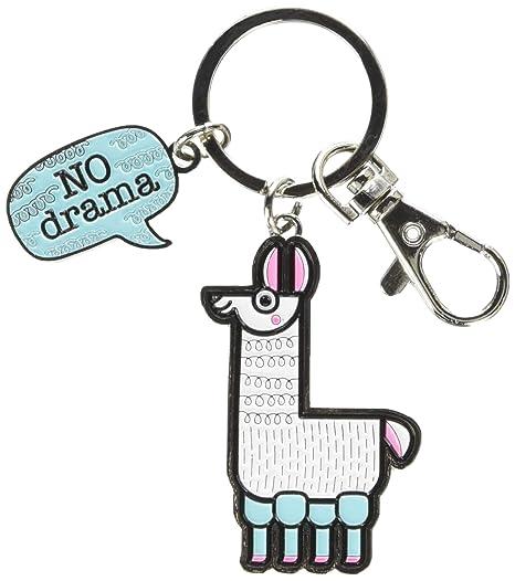 Wit Gifts Enamel Keychain, Llama