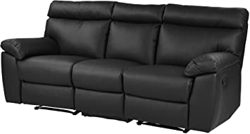 Tesco New Carlton Large 3 Seater Leather Effect Recliner