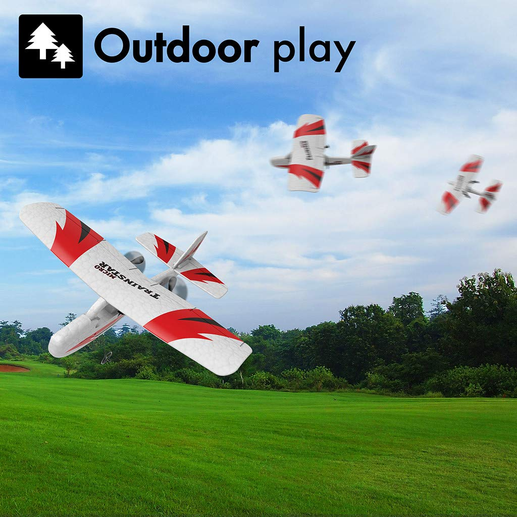 SYgerks RC Airplane Remote Control Airplane, 2.4GHz RC Plane Ready to Fly with 2.4GHz Control 3D/6G Mode Conversion, 6-Axis Gyro Easy to Fly for Beginners (White) by SYgerks (Image #3)