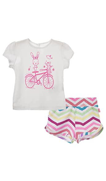 OFFCORSS Baby Girl Chic Newborn Hospital Take Me Home Summer Boutique Princess Outfit T Shirt and