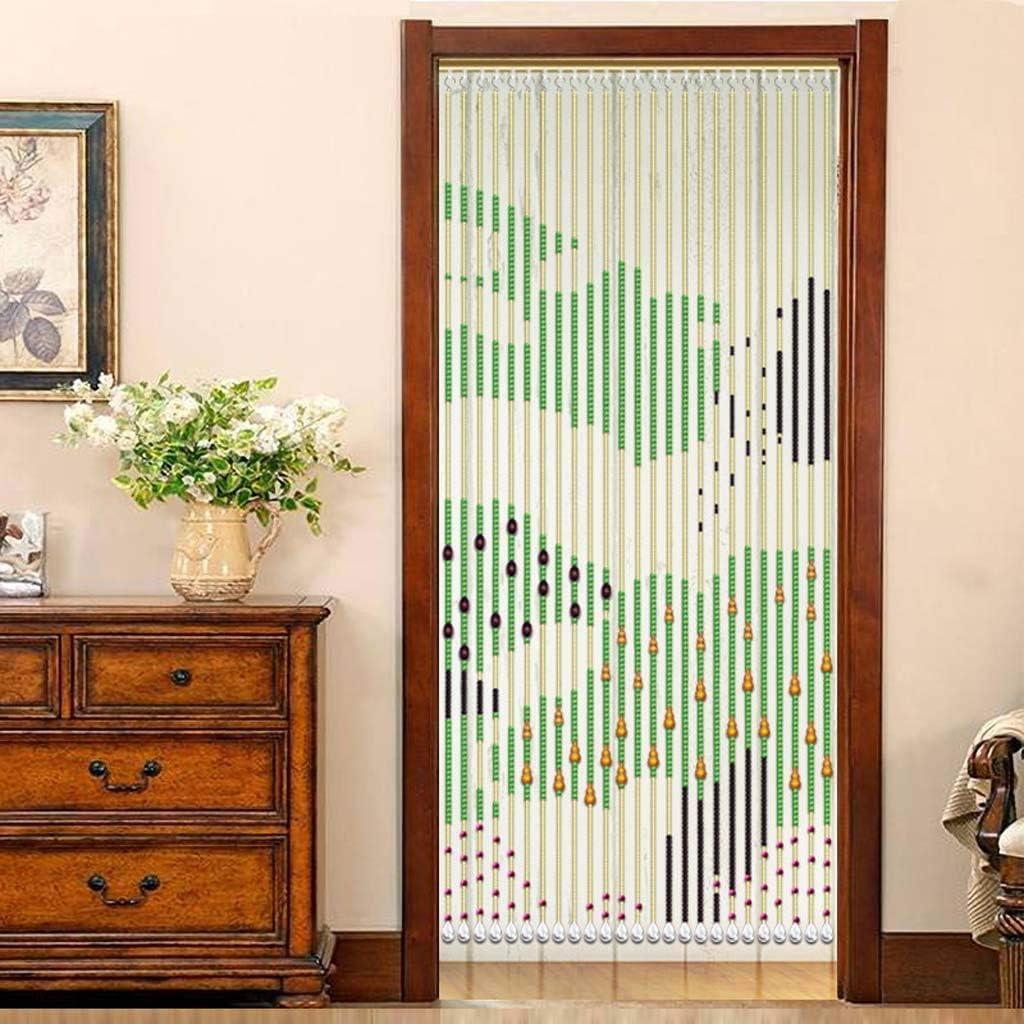 Cortinas moldeadas de bambú de madera natural, decoración interior, creando una atmósfera privada, bloqueando insectos voladores 75 × 35 : Amazon.es: Hogar
