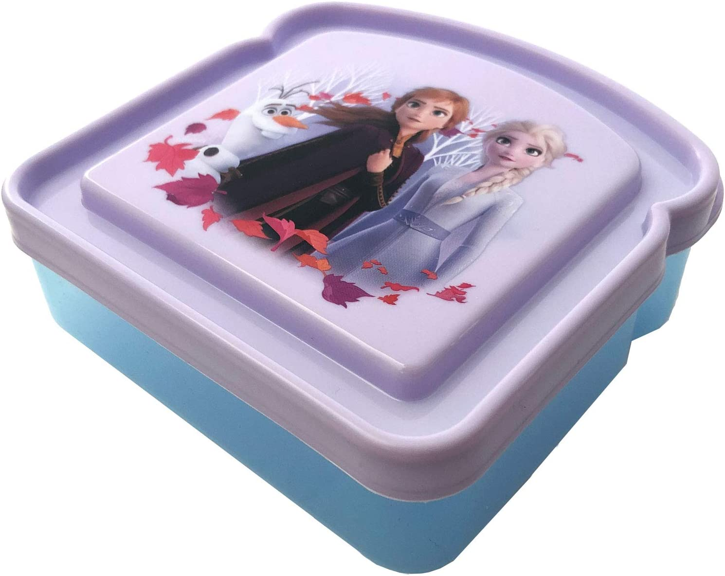 Sandwich Box Compact Food Storage Container | Great for Kid Snacks | BPA Free, Reusable (Frozen)