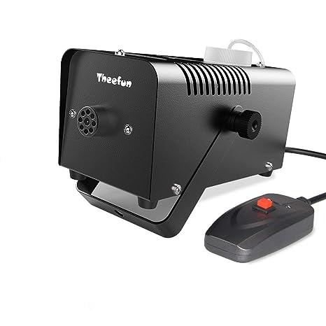 Máquina de niebla portátil Theefun. Máquina de humo de 400 vatios con control remoto ideal