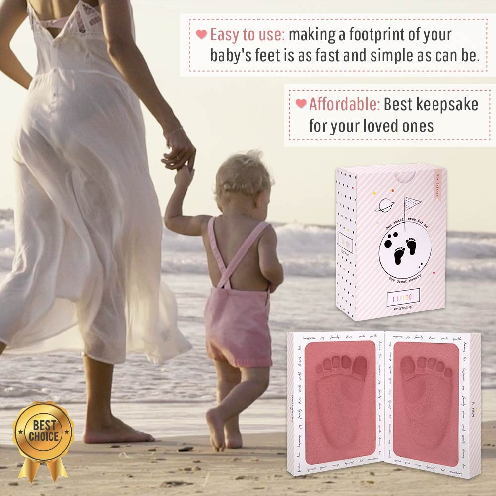 3D Baby Footprint Mold Keepsake Kit - Clean Healthy Foam Impression. Framed in Its Own Album. Perfect Baby Shower or Baby Registry Gift in Box for Girls and Boys w/Bonus eBook (Pink) by Ha&Da (Image #3)