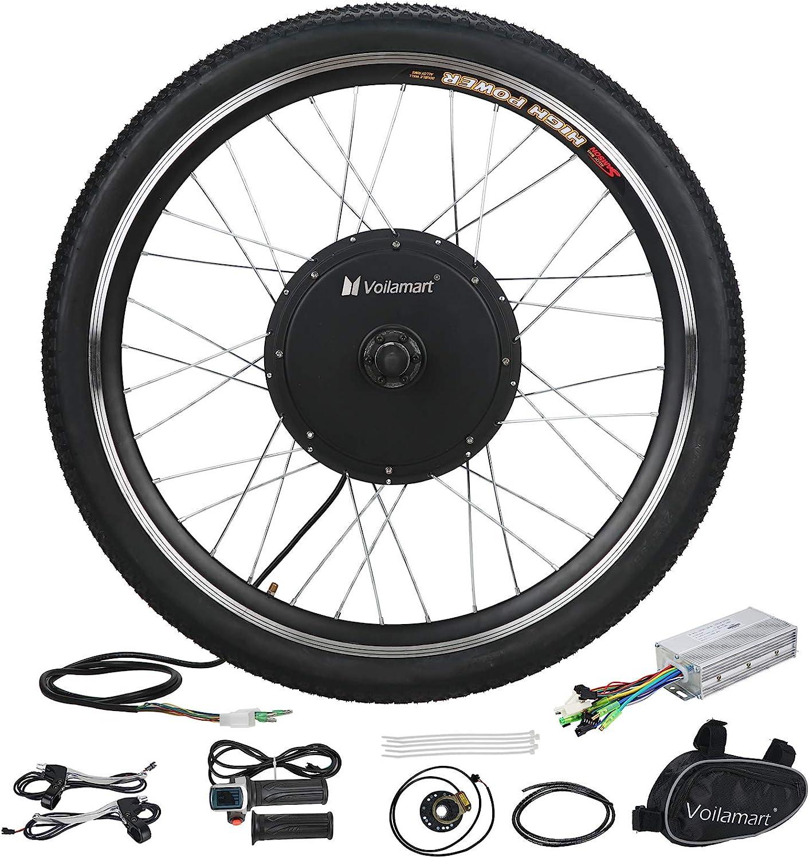 "26/"" Electric Bike Front Wheel Bicycle Conversion Kit Hub Motor Cycling 48V 1000W"