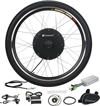 """48V 26/""""Front Wheel Electric Bicycle Motor Conversion Kit 1000W EBike Cycling Hub"""