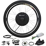 "Voilamart Electric Bicycle Wheel Kit 26"" Front Wheel 48V 1000W E-Bike Conversion Kit, Cycling Hub Motor with Intelligent…"