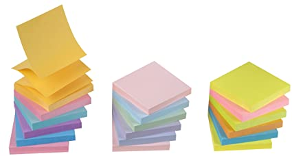 amazon com staples stickies pop up sticky notes 3x3 6 pads of