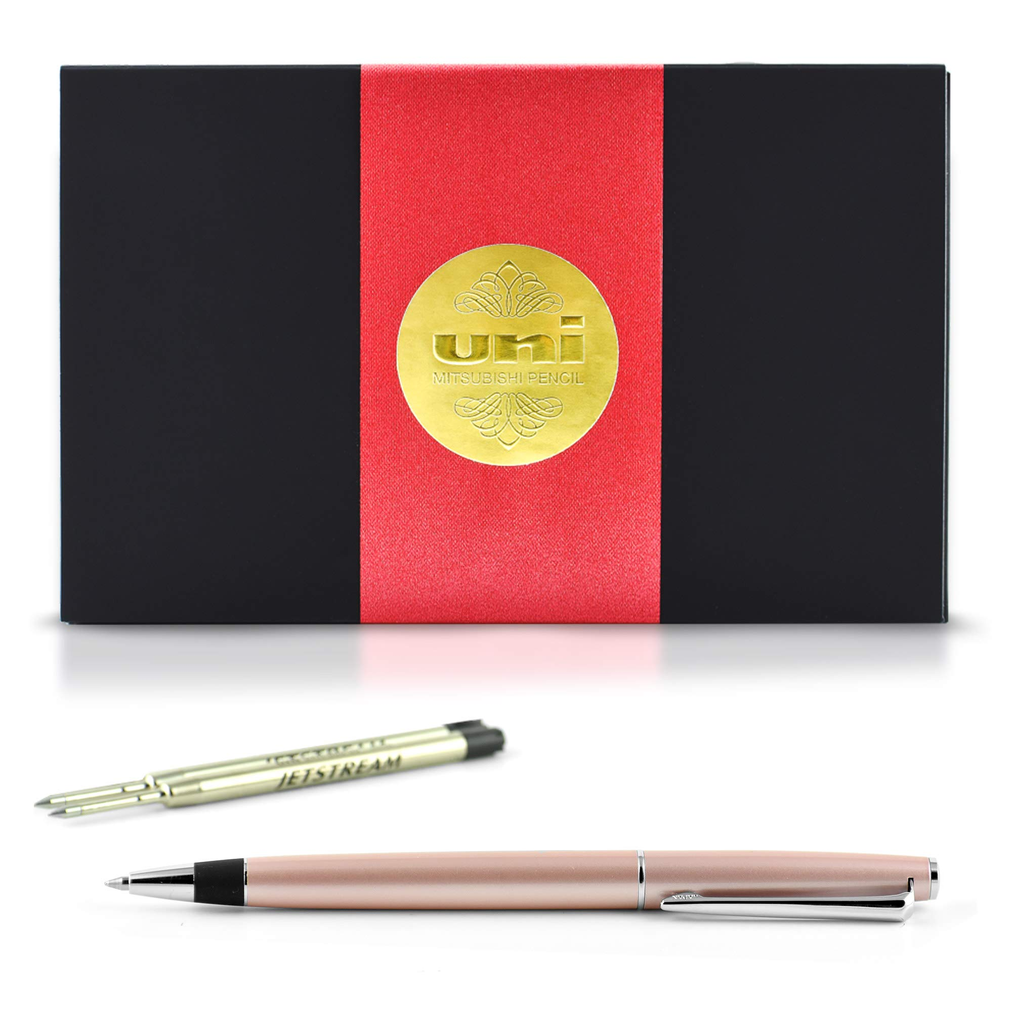 uni JETSTREAM PRIME TWIST - Includes one pen + two Parker Style refills (SXR-600-07) in Exclusive uni Gift Box (Pink)
