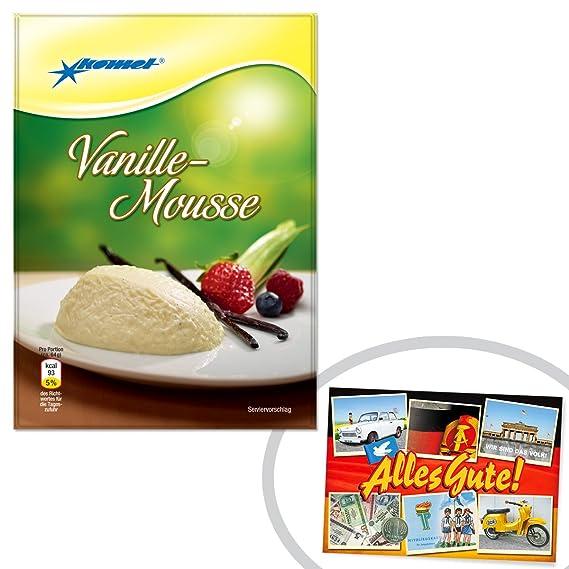 Vainilla-mousse Komet + el regalo + Ostprodukte - DDR producto tradicional y culto producto