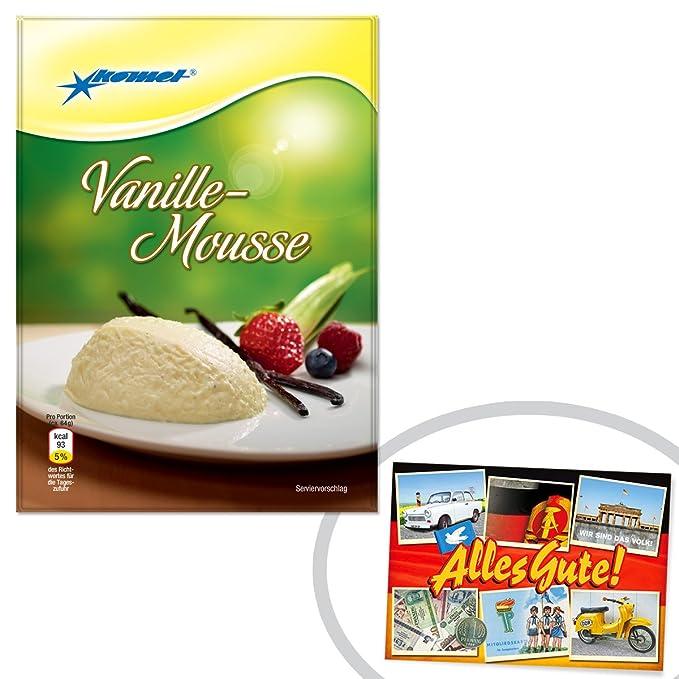 Vainilla-mousse Komet + el regalo + Ostprodukte - DDR producto tradicional y culto producto easterner - perfecta ...