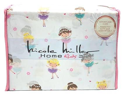 Amazoncom Nicole Miller Sweet Little Ballerinas Twin Size