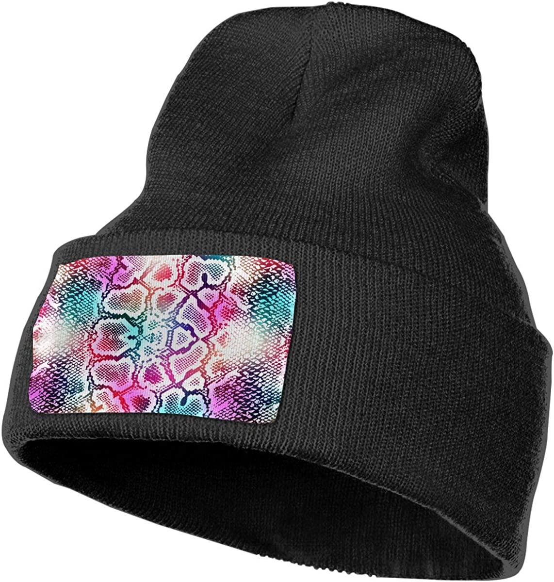 Colorful Snake Skin Texture Unisex Fashion Knitted Hat Luxury Hip-Hop Cap