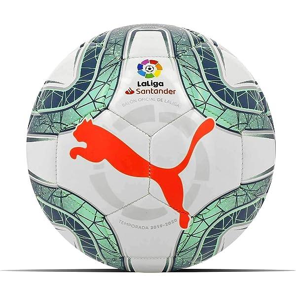 Puma LaLiga Hybrid 2019-2020, Balón, White-Green, Talla 4: Amazon ...