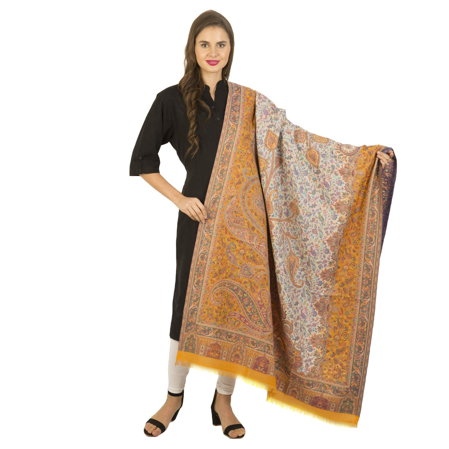 La Vastraa's Woven Yellow formal shawls and wraps for evening dresses  Yellow Shawls and Wraps
