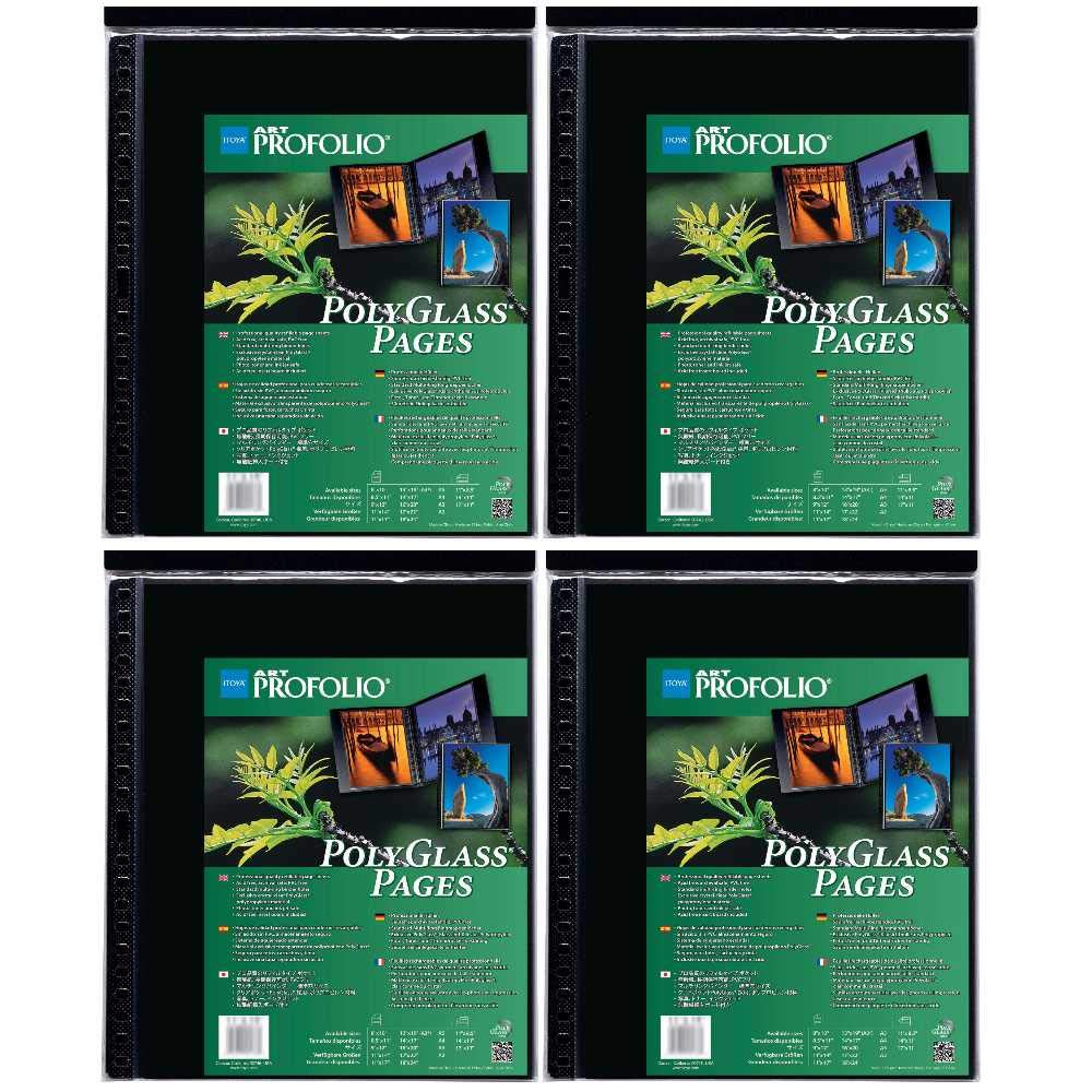 Itoya Art ProFolio Portrait Polyglass Pages (14'' x 17'') (4 Pack) by Itoya of America, Ltd