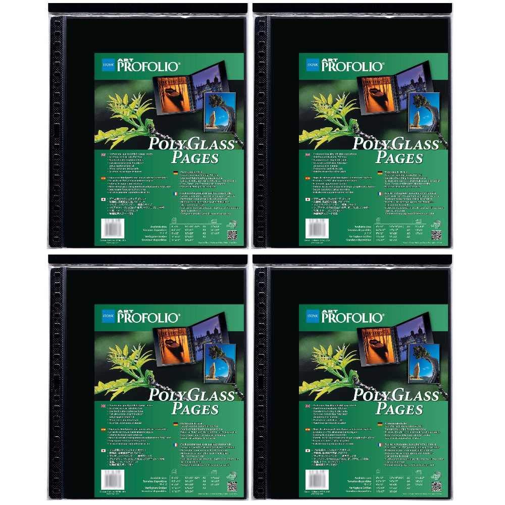 Itoya Art ProFolio Portrait Polyglass Pages (14'' x 17'') (4 Pack)
