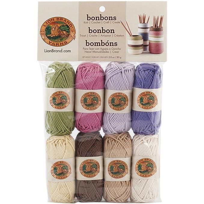 84997d9abe76 Amazon.com  Lion Brand Yarn Lion Brand Bonbons 680 Crayons