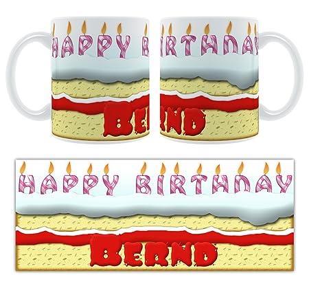 Feliz cumpleaños Bernd - tarta de cumpleaños ...
