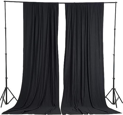 Amazon.com: BalsaCircle 10 ft x 10 ft Black Polyester Photography ...