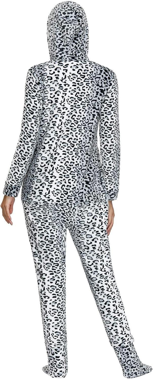 Zexxxy Damen Sweetheart Kapuzen Fleece Schlafanzug Overall Pyjamas Nachtw/äsche Set