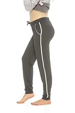fe646ec65b4b Coco-Limon Women Sweatpants - Long Brushed Joggers, Leg Stripe, Reg , Plus