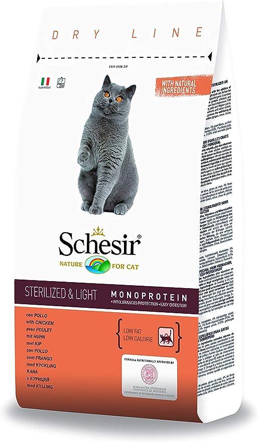 Schesir Comida Seca para Gatos Esterilizados con Pollo - 1500 gr ...