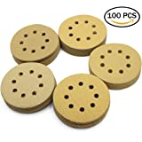 LotFancy 5-Inch 8-Hole Sandpaper Assortment - Dustless Hook and Loop Sanding Disc Random Orbital Sander Paper, Pack of 100 (20 Each of 60 80 120 150 220 Grits)