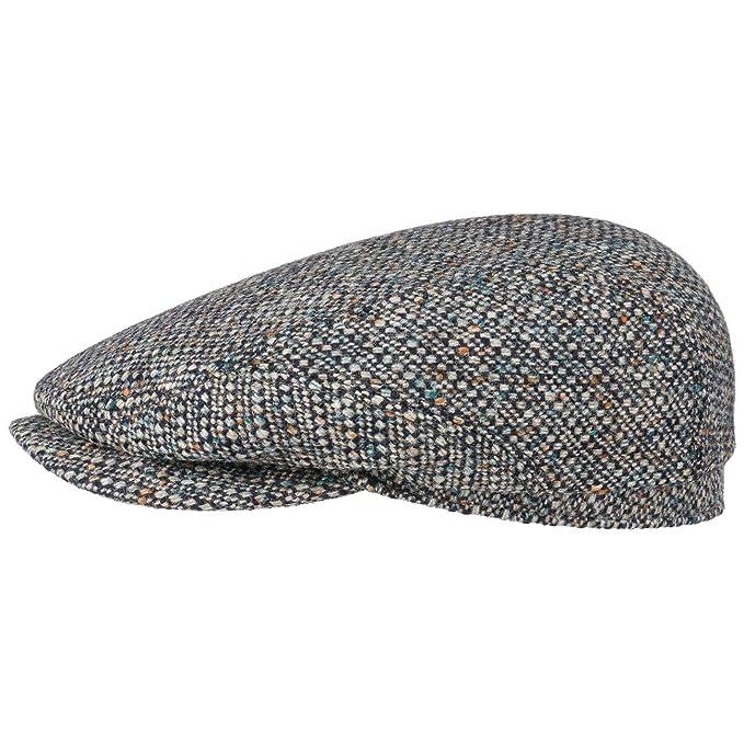 Stetson Coppola Belfast Wool Colour Neps Cappellino in Lana Cappello Piatto  56 cm - Grigio- 8853c6fb8652
