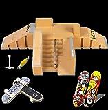 Aestheticism Finger Board Skate Park, Skate Park Kit 5PCS Skate Park Kit Ramp Parts for Te Da Finger Skateboard Ultimate…