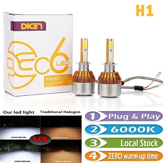 2 opinioni per 7th Gen Newest H1lampadina luci LED super luminoso 16000LM 6000K bianco