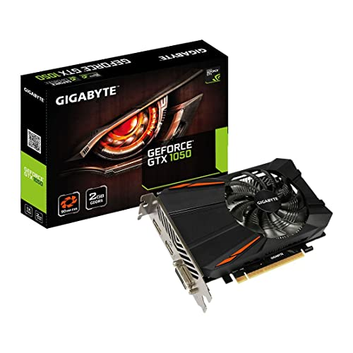 Gigabyte Nvidia GTX 1050 GDDR5 2GB PCI-E, Black