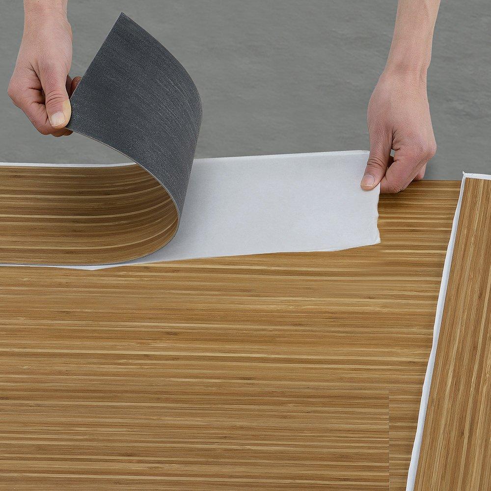 Neu.haus] vinyl pvc design bodenbelag   0.976qm   selbstklebend ...