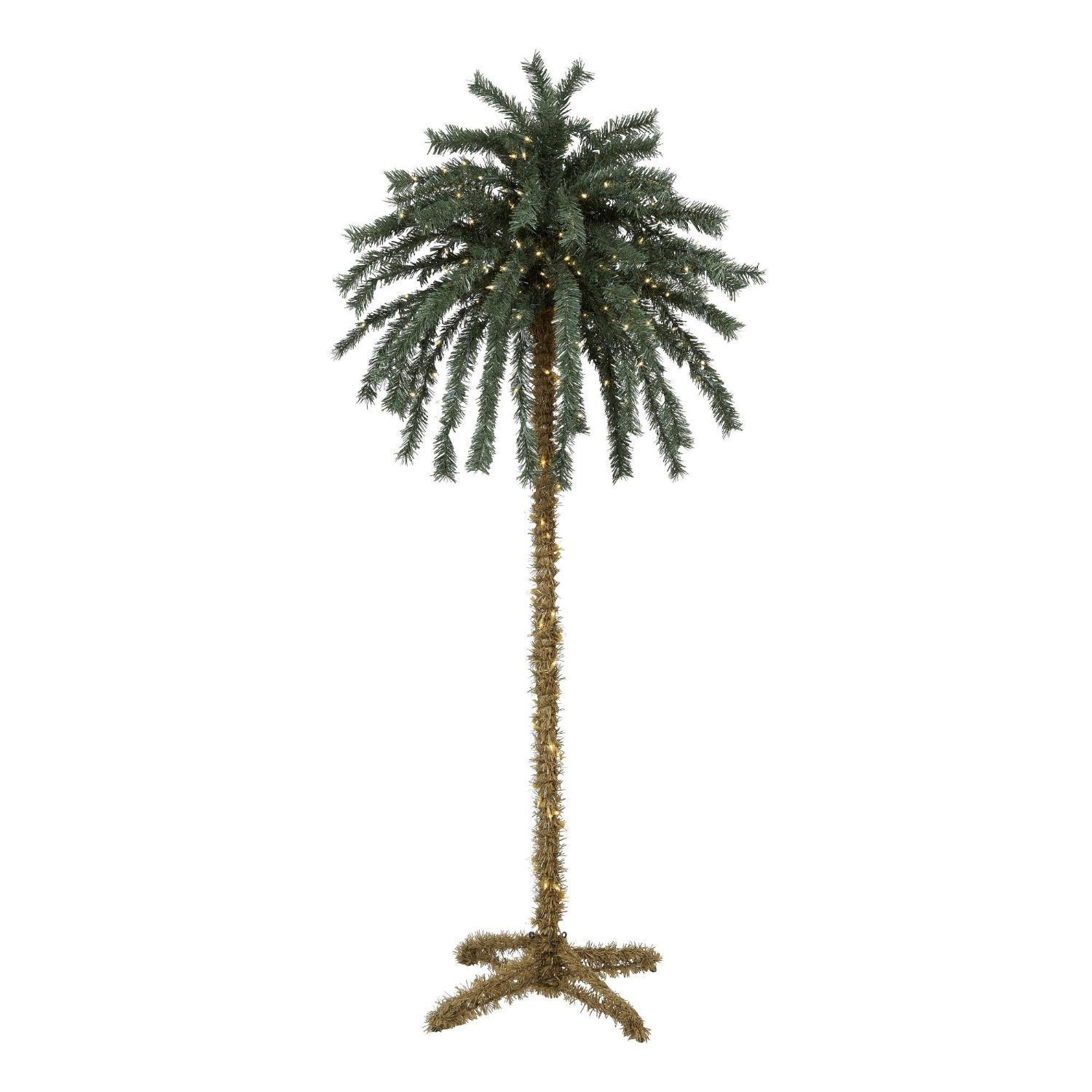 7 Foot Lighted -Christmas- Palm Tree - 300 Lights 78 Tips - Indoor / Outdoor