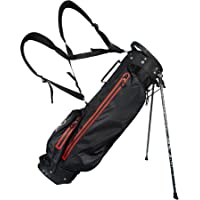 Clearance Golf 100% GUARANTEED Waterproof 7.5 Inch Stand Bag - Black/Red Double Strap last few reduced