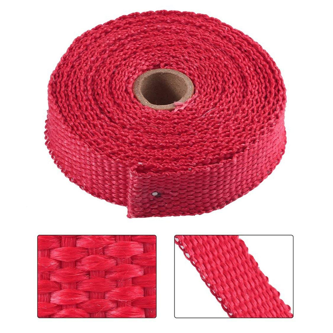Incombustible Turbo Manifold Insulating Exhaust Header Wrap Tape Thermal Stainless Zip Ties For Cars Motorcycles