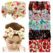 Baby Girl Nylon Headbands Newborn Infant Toddler Hairbands Bow Knotted Children Soft Headwrap Hair Accessories (Multicolor Bset3(6pcs), nylon)