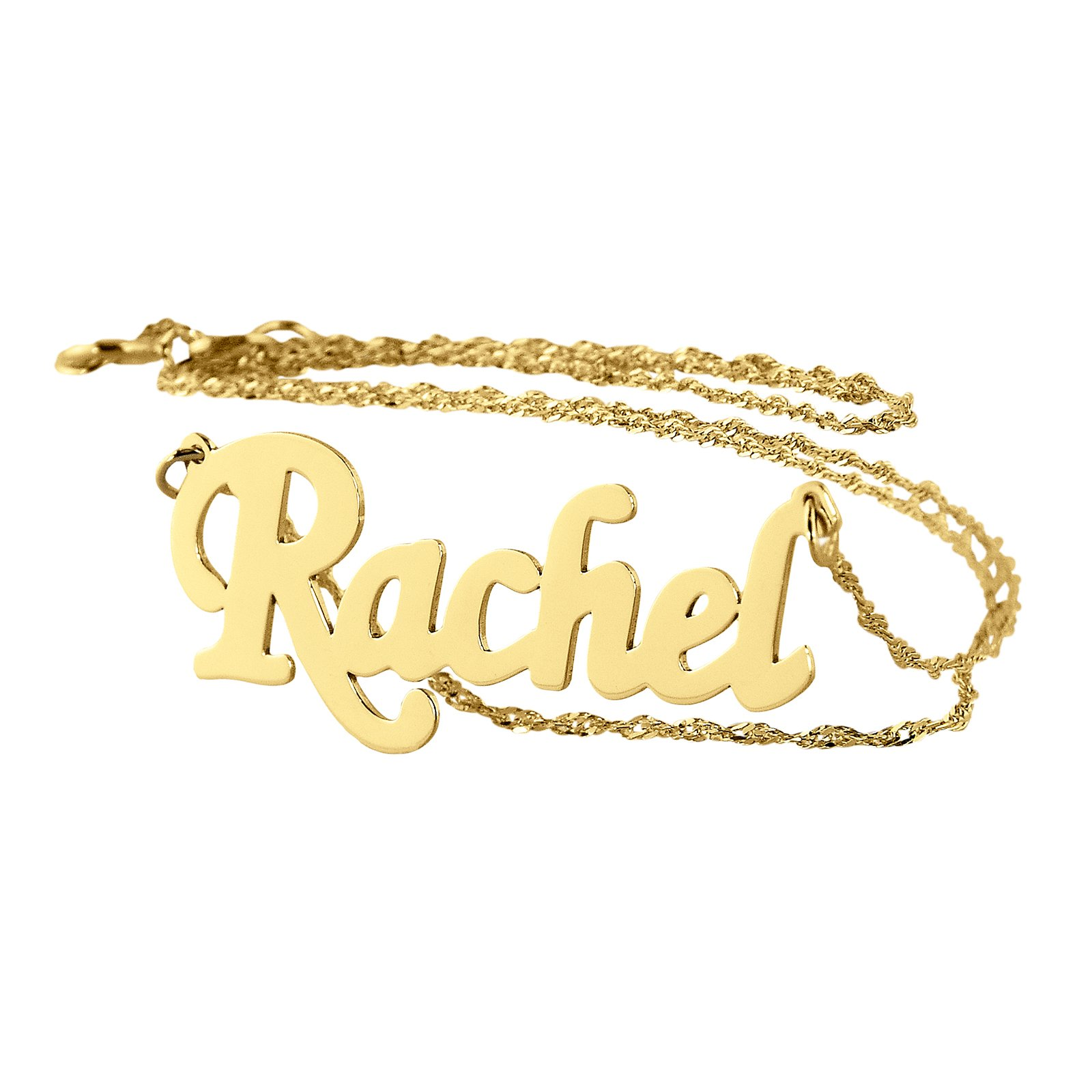 Personalized Name Necklace 14k Gold Dainty Pendant Charm. (16)