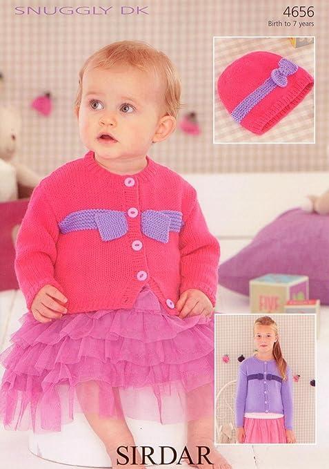 Sirdar 4656 Knitting Pattern Baby & Girls Cardigan & Hat to knit in ...