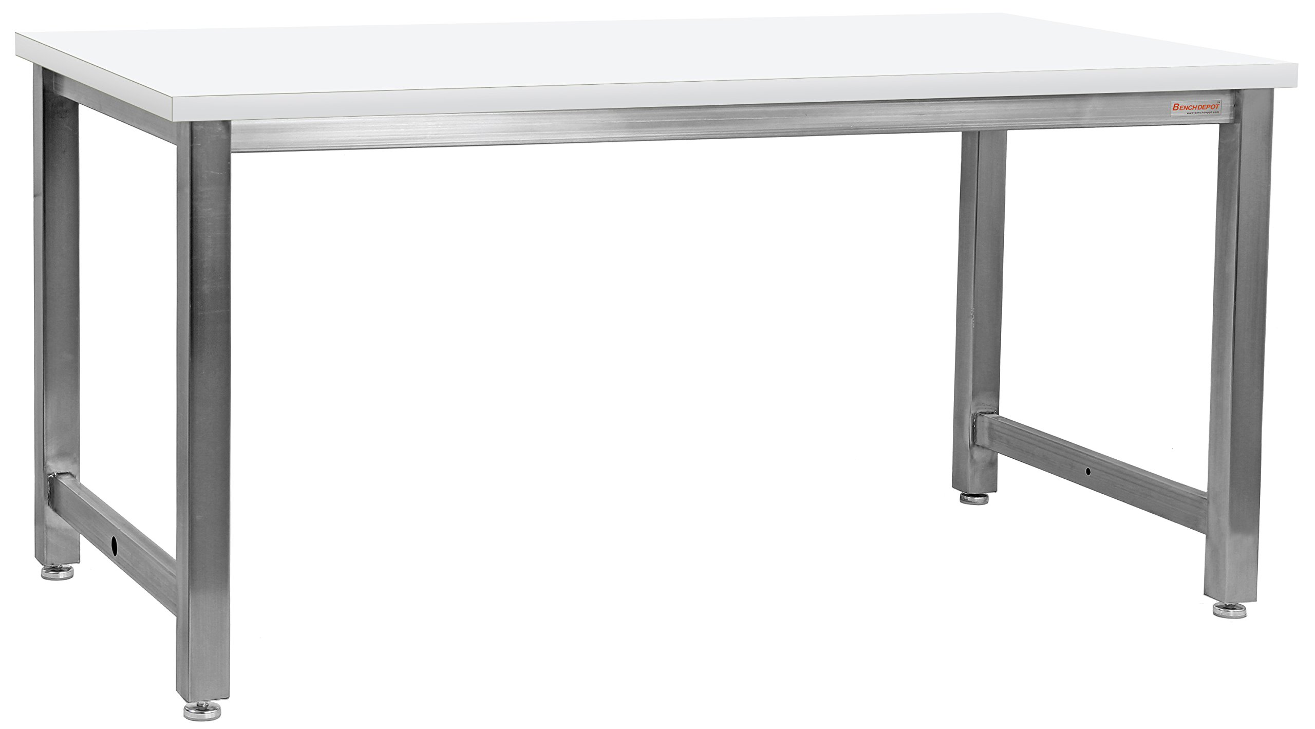 BenchPro KSECR2424 Kennedy Workbench with Stainless Steel Frame and Cleanroom Laminate Top