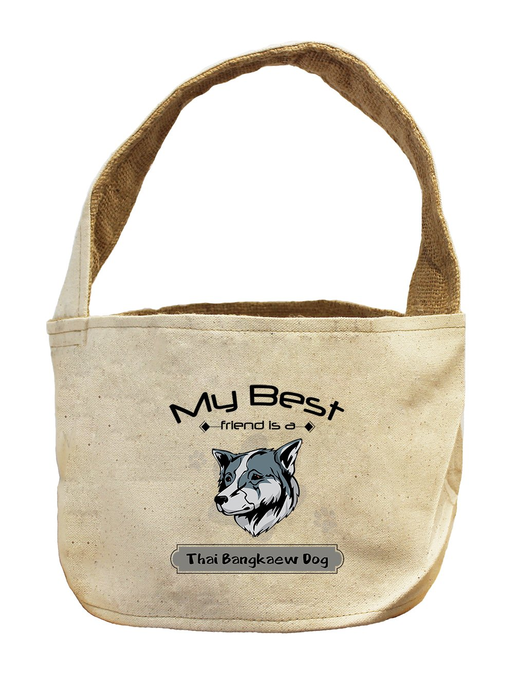 Style in Print Canvas/Burlap Basket My Best Friend Is Thai Bangkaew Dogdog by Style in Print
