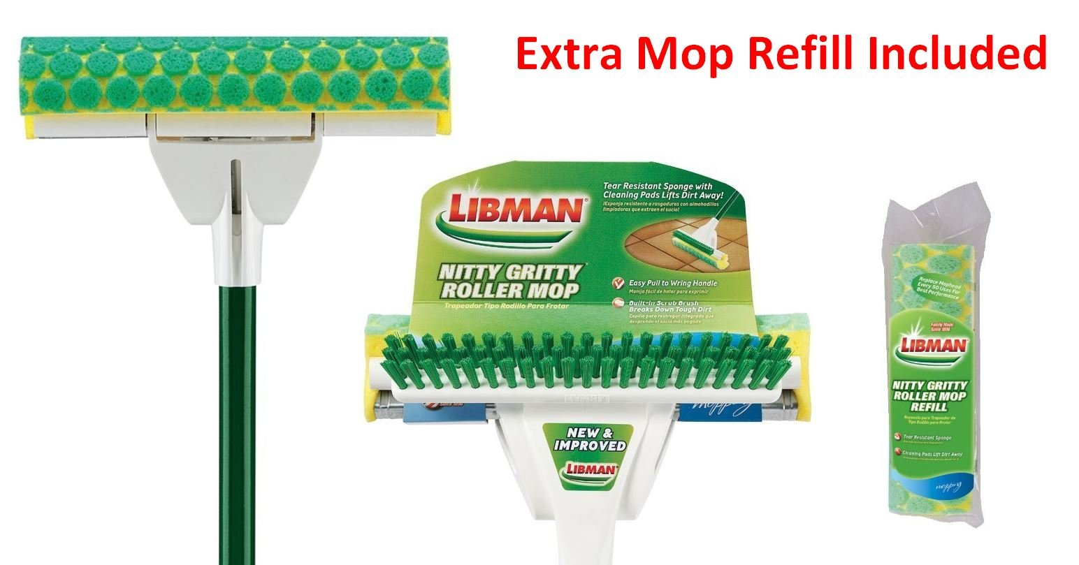 Amazon Com Libman Nitty Gritty Roller Mop Refill Pack Of