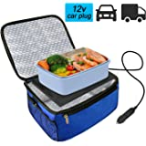 Car Food Warmer Portable 12V Personal Oven Heat Lunch Box with Adjustable/Detachable shoulder strap, Using for Work/Picnic/Ro
